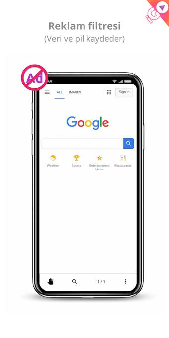 android web tarayıcısı reklamsız